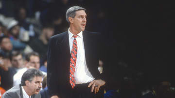 Utah Jazz head coach Jerry Sloan