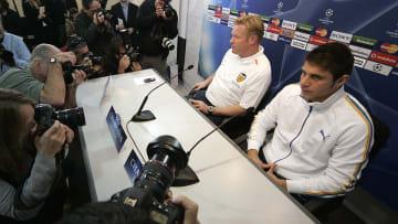 Joaquín y Koeman comparten rueda de prensa del Valencia