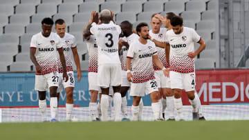 Gaziantep FK oyuncularının gol sevinci