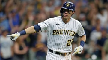 Christian Yelich drove in 6 of Milwaukee's 9 touchdowns