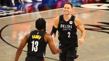 Blake Griffin celebrates a dunk.