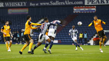 Mbaye Diagne heads in for West Brom