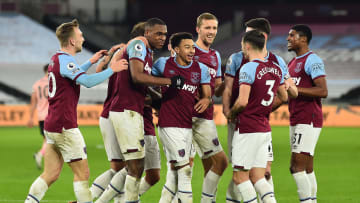 West Ham celebrate their second goal