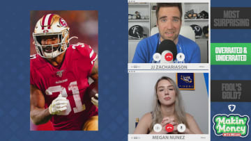 Speaking with Megan Nunez on FanDuel's Makin' Money With Megan, fantasy football expert JJ Zachariason blended his favorite daily fantasy plays with betting markets on FanDuel Sportsbook for Week 2 of the NFL season. Nunez and Zachariason discussed the most surprising betting and fantasy performances from week one, ranging from Arizona Cardinals wide receiver DeAndre Hopkins to Kansas City Chiefs rookie running back Clyde Edwards-Helaire, and took a look toward their favorite Week Two plays. From San Francisco 49ers running back Raheem Mostert to Carolina Panthers wide receiver DJ Moore, there's plenty of crossover between fantasy football and betting in week two.