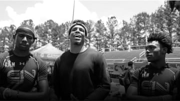 Cam Newton Mentors Next Generation of Football Stars