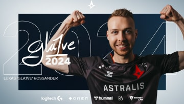 """Lukas """"gla1ve"""" Rossander has signed a three-year contract extension to remain the IGL of Astralis' CS:GO team until the summer of 2024."""
