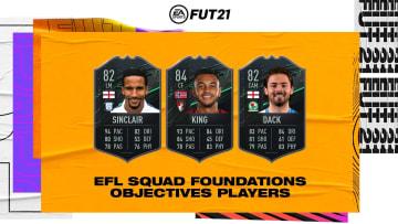 FUT 21 EFL Squad Foundations Cards