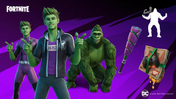 Beast Boy is coming to Fortnite on May 13, with a chance for players to unlock him in the Teen Titans Cup on May 12. | Photo by Fortnite, Epic Games