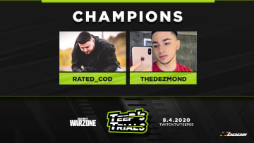 Rated and TheDezmond brought home first place in TeeP's Trials!