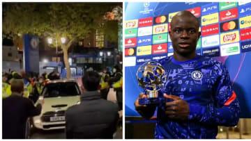 N'Golo Kanté a été porté en triomphe avec sa Smart.