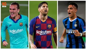 Antoine Griezmann, Lionel Messi et Lautaro Martinez.