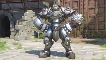 Reinhardt's ultimate ability allows him to knock down all enemies within a 20-meter cone-shaped vicinity in front of him.