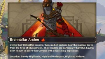 A profile on the Brennalfar Archers, one of two mobs that drop Brennalfar Amber