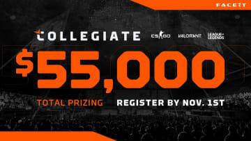 FACEIT Collegiate league registration is open until Nov. 1.