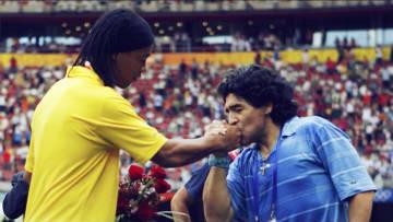 Ronaldinho and Diego Maradona