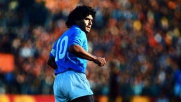 Diego Maradona Napoli'de.