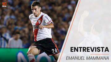 Emanuel Mammana jugó contra Edwin Cardona en la final de la Copa Sudamericana 2014