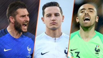 André-Pierre Gignac, Florian Thauvin et Paul Bernardoni, les cadres de cette sélection.