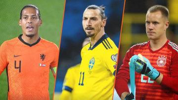 Van Dijk, Zlatan Ibrahimovic et Ter Stegen sont certains de manquer l'Euro cet été.