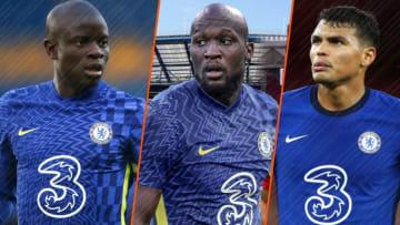 N'Golo Kanté, Romelu Lukaku et Thiago Silva.