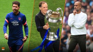 Diego Simeone, Thomas Tuchel et Pep Guardiola.