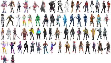 Dozens of Fortnite skins appeared in a recent leak.