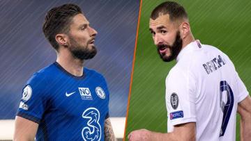 Olivier Giroud et Karim Benzema, destins croisés.