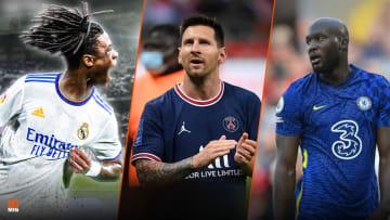 Eduardo Camavinga, Lionel Messi et Romelu Lukaku.