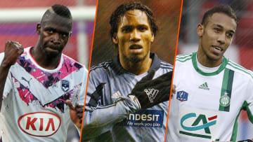 Cheick Diabaté, Didier Drogba et Pierre-Emerick Aubameyang.