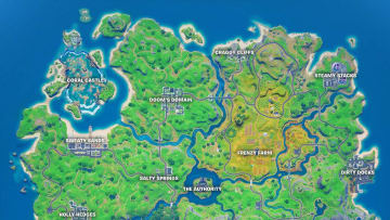 Here is how to find the five floating rings at Steamy Stacks in Fortnite.