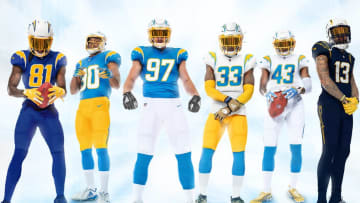 Chargers Uniforms.