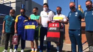 Boca recordando el aniversario de Flamengo