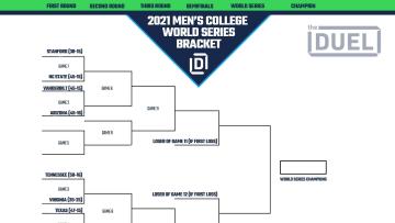 2021 Men's College World Series printable bracket.