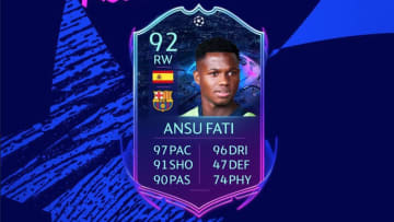 Ansu Fati FIFA 20 UCL Road to the Final objective is now available to be completed.