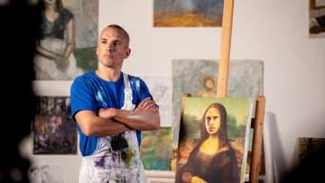 Leon Osman, painting