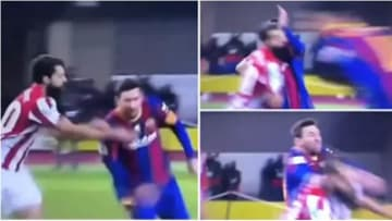 Lionel Messi was red carded for Barcelona last night
