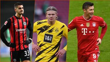 Die Bundesliga hat drei heiße Eisen im Feuer im Rennen um den Goldenen Schuh 2021