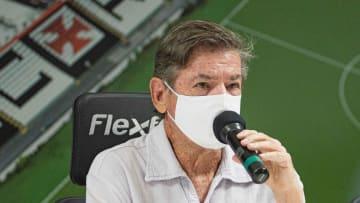 O presidente eleito do Vasco, Jorge Salgado, em entrevista coletiva para início dos trabalhos à frente do clube.