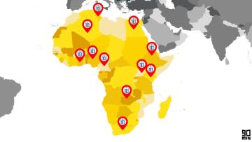 I Messi presenti in Africa