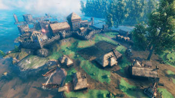 Start your base and craft tools to go down the Valheim tech tree.