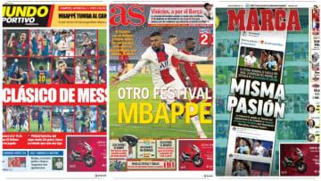Las portadas de los diarios españoles