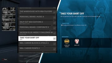 Here's how to take off your shirt in NBA 2K22 MyCareer on Current Gen and Next Gen.