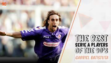 Batistuta was a goal machine during the 1990s