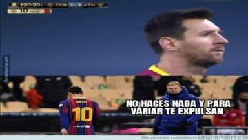 Messi expulsado ante el Athletic