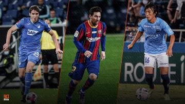 Robert Skov, Lionel Messi et Shunsuke Nakamura.