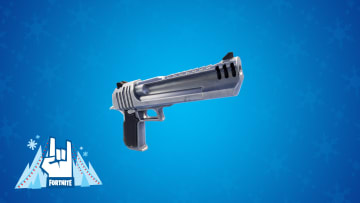 Fortnite's Hand Cannon could be making a comeback in Season 3. Pictured above is the weapon in Jan, 2020 from Winterfest LTM.
