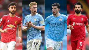 PFA Premier League Team of the Year 2020/21: Manchester United Bruno Fernandes, Manchester City; Kevin De Bruyne, Ruben Dias, Liverpool Mohamed Salah