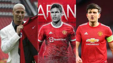 Manchester United Rio Ferdinand, Raphael Varane, Harry Maguire