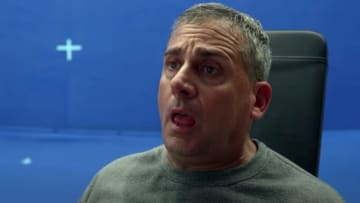 Steve Carell breaks character in 'Space Force' bloopers.