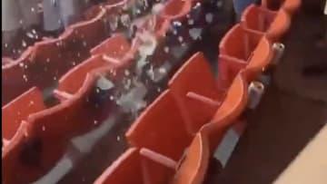 Pipe bursts at FedEx field
